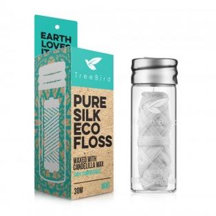 TreeBird Pure Silk Eco Floss - hambaniit klaasist purgis
