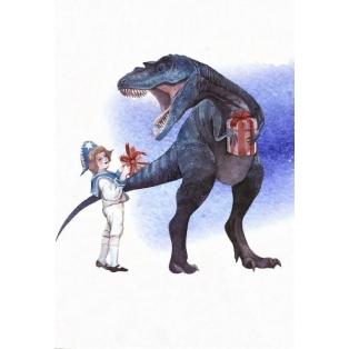 Jõulukaart Dino