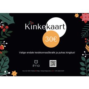 Kinkekaart 30 Eur
