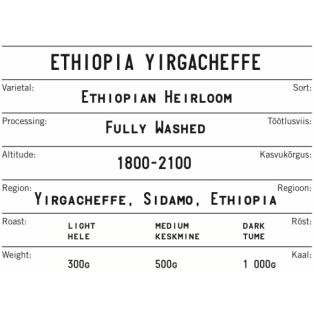 KOKOMO kohvioad Ethiopia Yirgacheffe