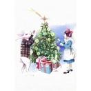 Jõulukaart Alice & Rabbit