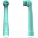 TIO Elektrilise hambaharja vahetusotsikud 2 tk - Roheline/hall