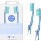 TIO bioplastikust hambaharja vahetusotsikud (sinine medium soft)