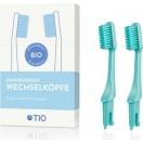 TIO bioplastikust hambaharja vahetusotsikud (roheline medium soft)