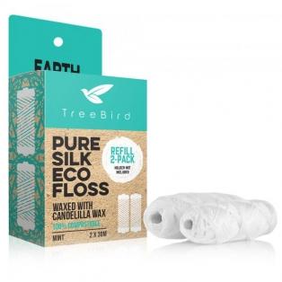 TreeBird Pure Silk Eco Refills - siidist hambaniidi täirerullid 2 tk