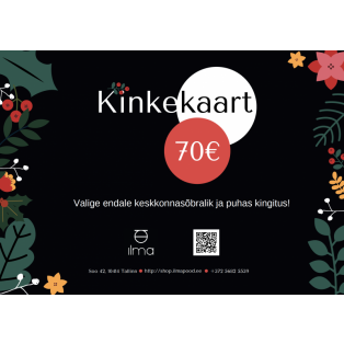 Kinkekaart 70 Eur