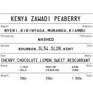 KOKOMO kohvioad Kenya Zawadi Peaberry