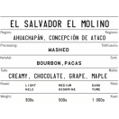 KOKOMO kohvioad El Salvador El Molino