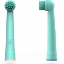 TIO Elektrilise hambaharja vahetusotsikud 2 tk - Roosa/sinine